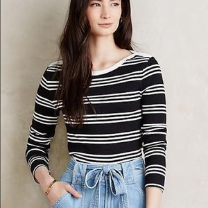 Anthropologie everleigh striped long sleeve top S
